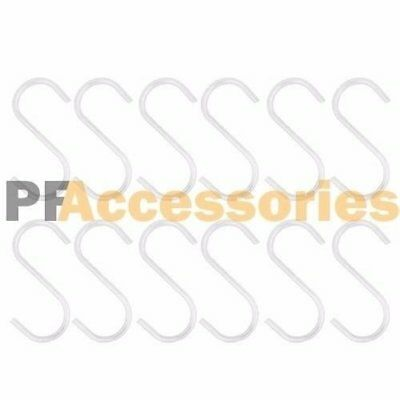 """12 Pcs 2"""" inch Metal """"S"""" Shape Type Hooks Hangers for Kitchen Metal Clasp Cup"""