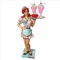 1950s Style Diner Car Hop Waitress Retro Serving Table