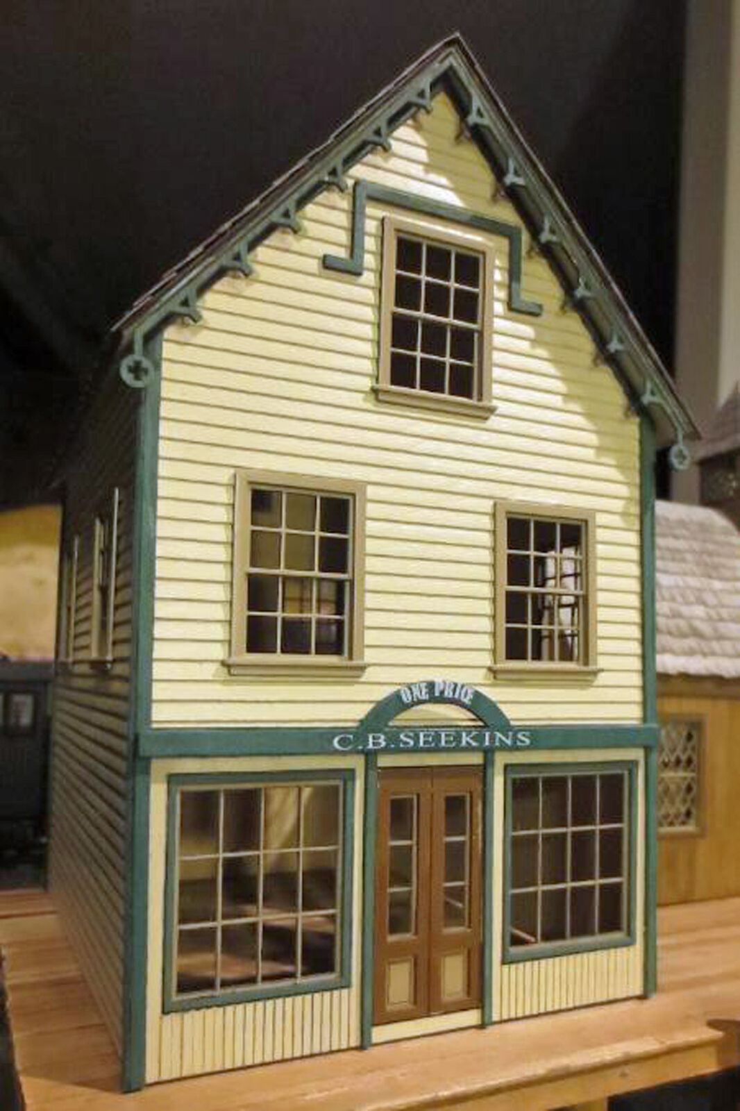 C B SEEKIN'S DRY GOODS O O O On30 Model Railroad Unpainted Structure Laser Kit DF422 17cabc