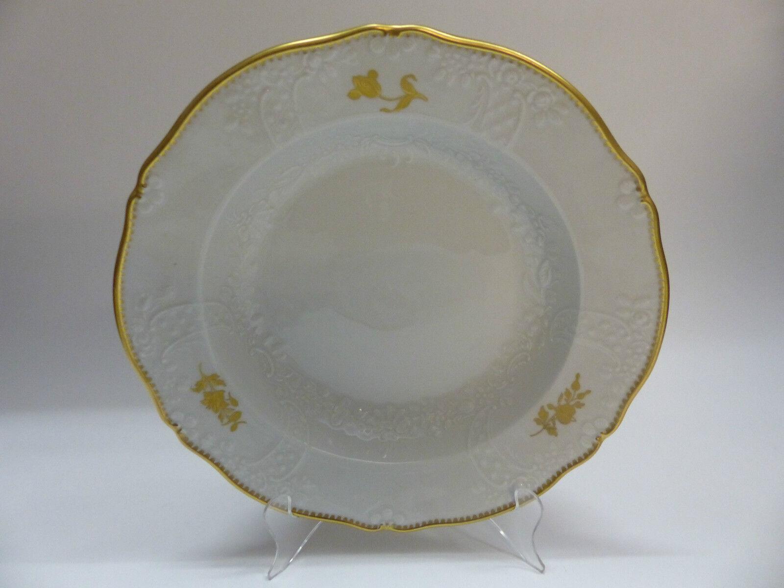 Meissen Gestreute Goldene Rosa Form Neumarseille Speiseteller 27 27 27 cm   | Neue Sorten werden eingeführt  e1b2a1