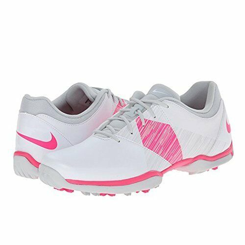 NIKE DELIGHT V 5 GOLF LOW WOMEN SHOES WHITE PINK 651997-102 SIZE 9.5 NEW