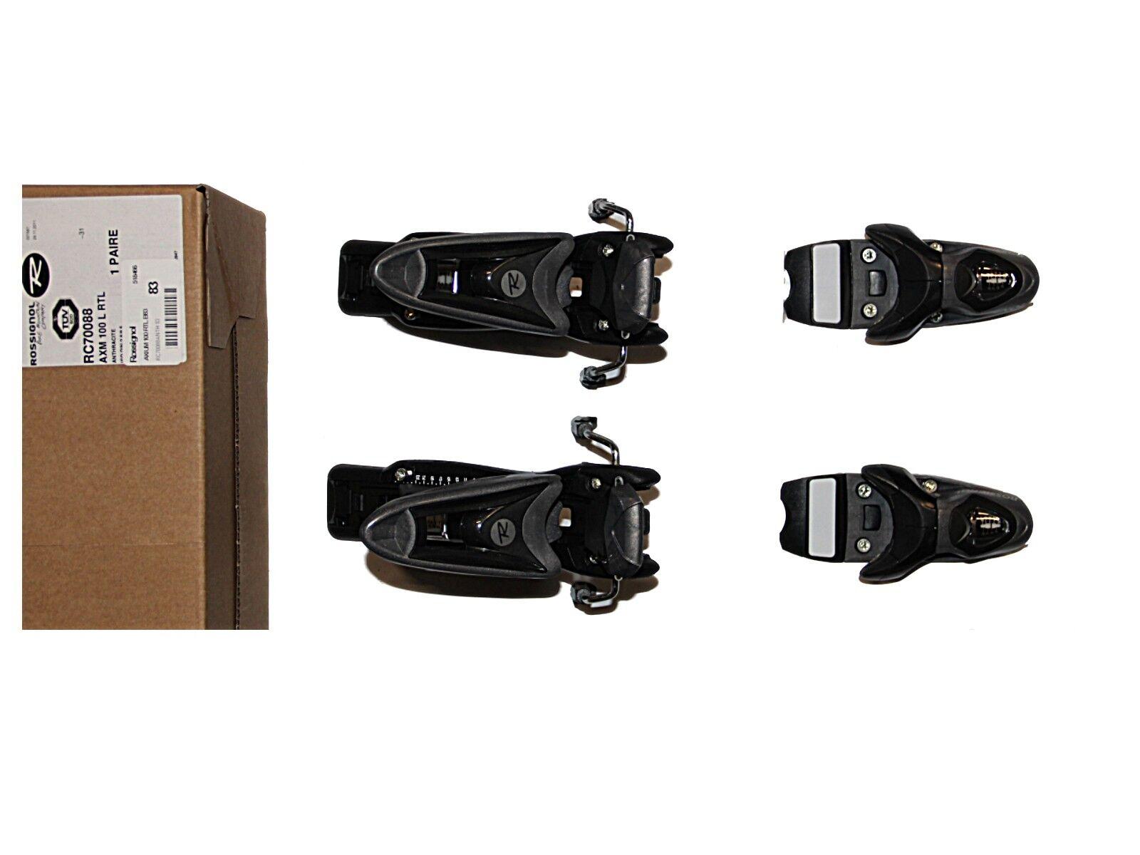 Rossignol  Axium 100 RTL Brake 83mm  alpine downhill Ski Bindings   NEW  stadium giveaways