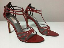 Jlo (Jenifer Lopez) Women's Red Patent Leather Strappy Sandal Heels Size 7.5