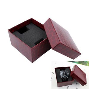 Details About Red Pu Noble Durable Present Gift Box Case For Bracelet Jewelry Watch Ebau