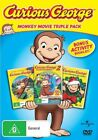 Curious George / Curious George 2 - Follow That Monkey / Curious George 3 - A Very Monkey Christmas (DVD, 2009, 3-Disc Set)