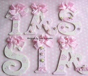 Image Is Loading Personalised 6 034 Pretty Wooden Letters Name Gift