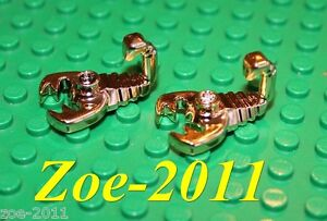 Lego 2x Gold Chrome Axe NEW!!!