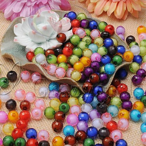HOT Lot 100pcs 10 mm Pastèque Acrylique Perles en Perles Spacer Beads For Jewelry