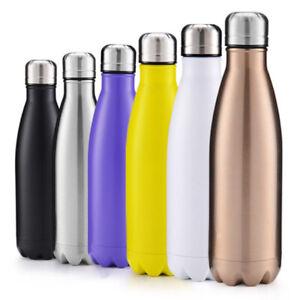 500ml-Bottiglia-d-039-acqua-Portatile-Borraccia-in-Acciaio-Inox-Termica-Sporti-Sport