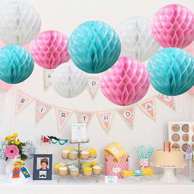 Lanterns Wedding /& Party Decorations Honeycomb Balls Pom Poms Puff /& Fans