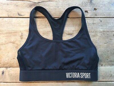 VICTORIA/'S SECRET SPORT  BLACK VSX MESH BACK THE PLAYER WIRELESS SPORT BRA VS