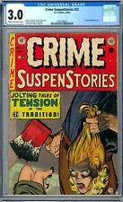 Crime SuspenStories #22 CGC 3.0 (C OW) Classic Decapitation Cover