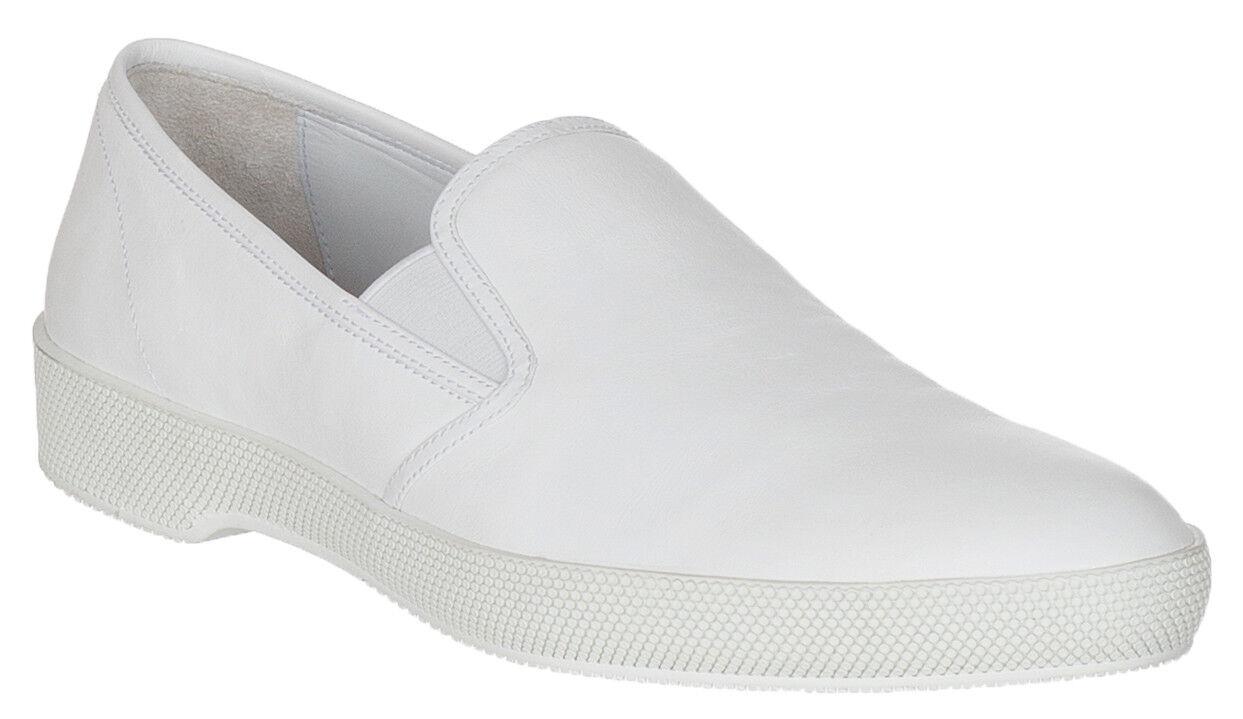 Scarpe  casual da uomo  Scarpe uomos Prada White Leather  Slip On Sneakers Shoes Size 8.5 6f542f