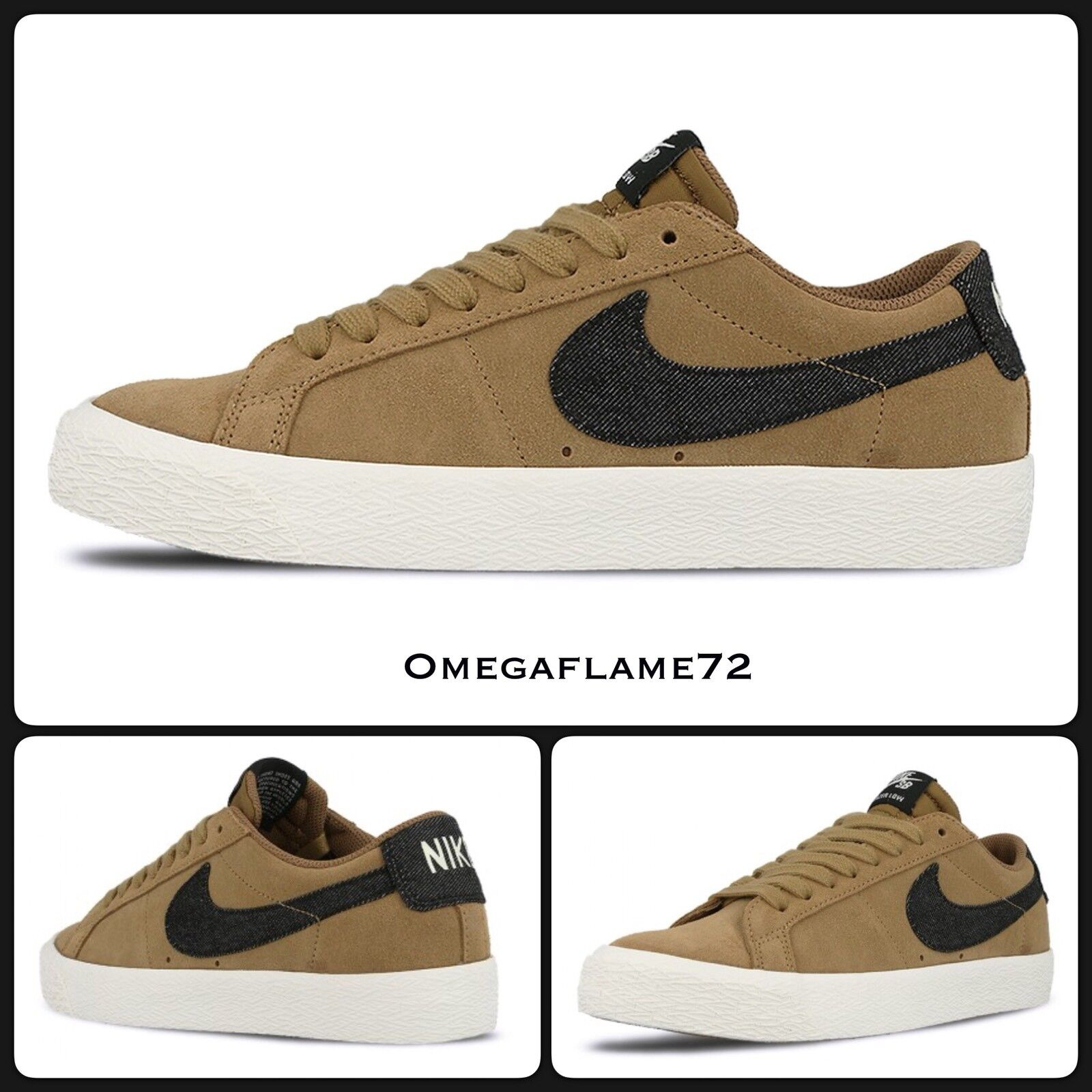Nike SB Blazer Premium Low Golden & Black 864347-201 USA 10