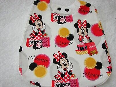 Handmade Burp Cloths Minnie /& Mickey Mouse 2 Pack Black Red /& White Cartoon