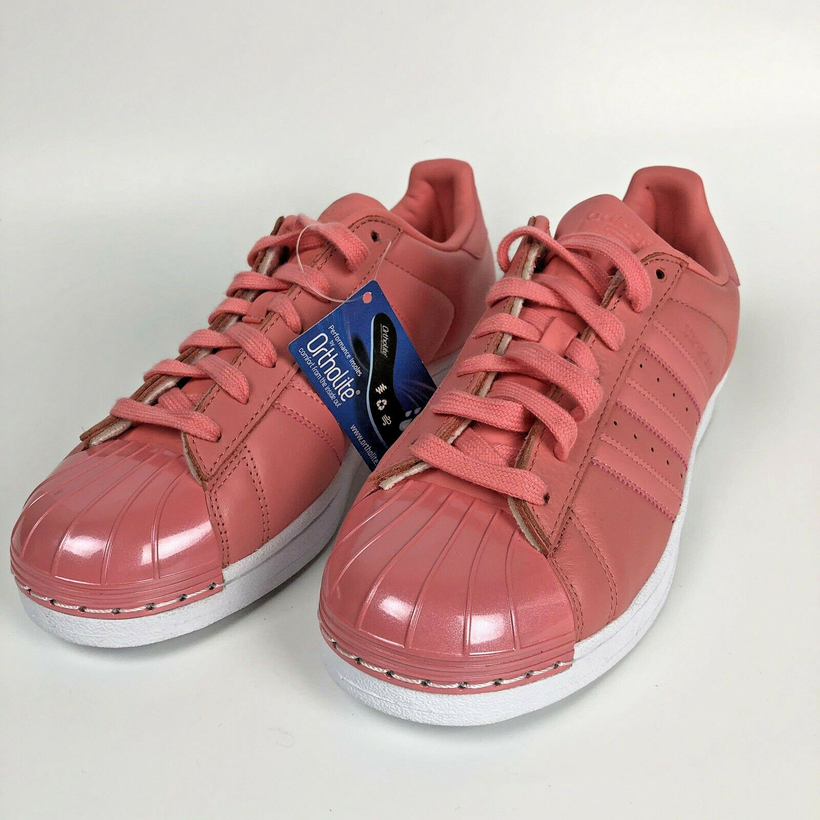 NEW Adidas Superstar Superstar Superstar US 10 Metal Shell Toe Tactile pink Pink shoes Sneakers 95ed99