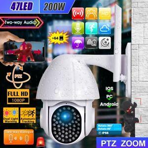 1080P WiFi Caméra de Surveillance Sans fil Vision Nuit Extérieur avec carte 64G