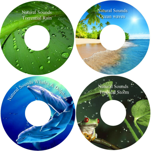 Natural Sounds Relaxation Deep Sleep Relief Stress 4 CD Healing Calming Nature