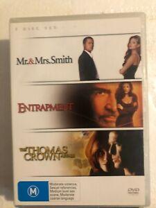 Mr-amp-Mrs-Smith-Entrapment-The-Thomas-Crown-Affair-DVD-FREE-POST
