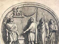'Marti Romanorum Patri sacrificat en Arcu Constantini' 1645 aguafuerte F.PERRIER