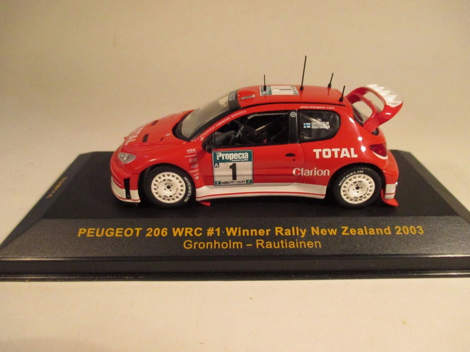 Ixo RAM114 Peugeot 206 WRC winner New Zealand 2003 1 43 MIB