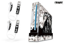 Skin Decal Wrap for Nintendo Wii Gaming Console & Controller Sticker REAPER W