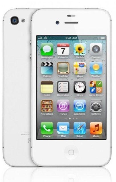 "APPLE iPHONE 4S 64go Blanc Dual Core 3.5"" Screen 8Mp Camera Ios 9 Smartphone"