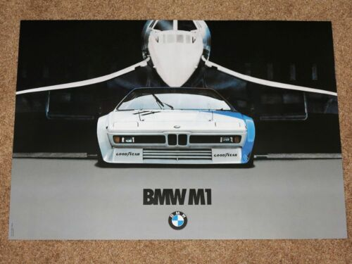 Original Vintage en Menta BMW M1 /& Concorde Póster 36-M Motorsport