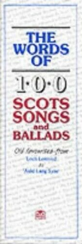 1 of 1 - The Words of 100 Scottish Songs and Ballad... by Music Sales Corporat 0946005869