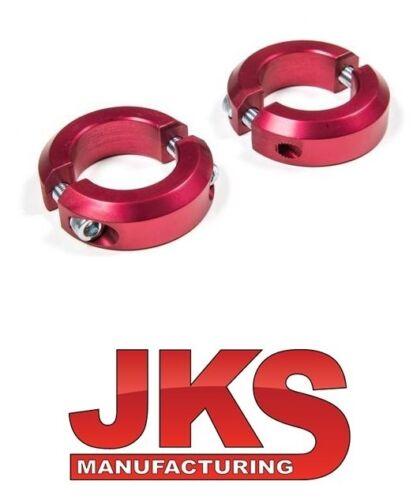 JKS Sway Bar Clamp Kit 97-18 Jeep Wrangler TJ LJ JK JKU 2038 Red