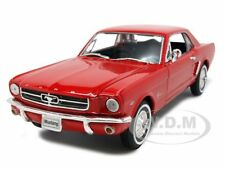 1964 FORD MUSTANG HARD TOP RED 1/24 DIECAST MODEL CAR BY WELLY 22451