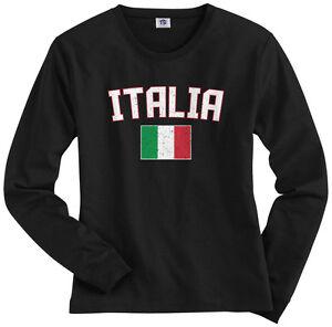 c4565f407 Threadrock Women's Italia Flag Long Sleeve T-shirt italy rome ...