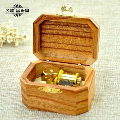 Pirates of Caribbean Davy Jones Theme Sankyo Natural Wooden Octagon Music Box