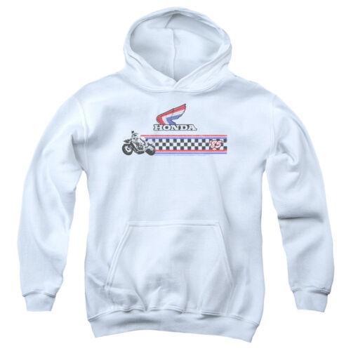 Honda Kids Hoodie /'85 Classic Red White Blue Logo White Hoody