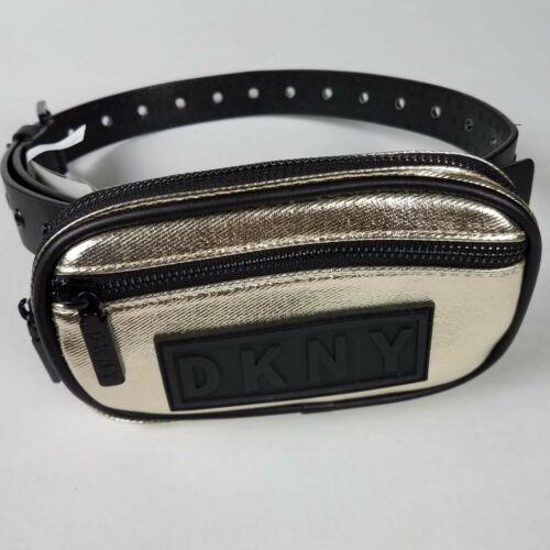DKNY Black Fanny Pack Waist Belt Bag Mini Dress Waist Bag Size Medium Small $58