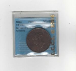 Can-Token-NB-2A1-Breton-911-CCCS-Graded-VF-30-Clnd-One-Penny-Token