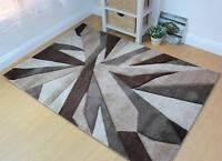 Hand Carved Fragmented Beige & Brown Modern Wilton Rugs 160x230cm