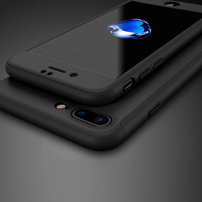 New iPhone 7 PLUS Front and Back 360° Hard Case Cover Thin+ Glass Screen Shield
