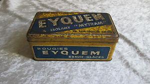 Ancienne boite en tôle lithographiée EYQUEM bougies déco idéal garage / Bidons