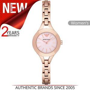 Emporio-Armani-Formale-Donna-Orologio-Tondo-Quadrante-Rosa-Bracciale-Oro-Rosa-AR7418