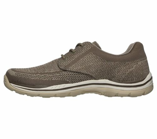 65720 Taupe Skechers shoes Men Memory Foam Casual Comfort Oxford Soft Woven Knit