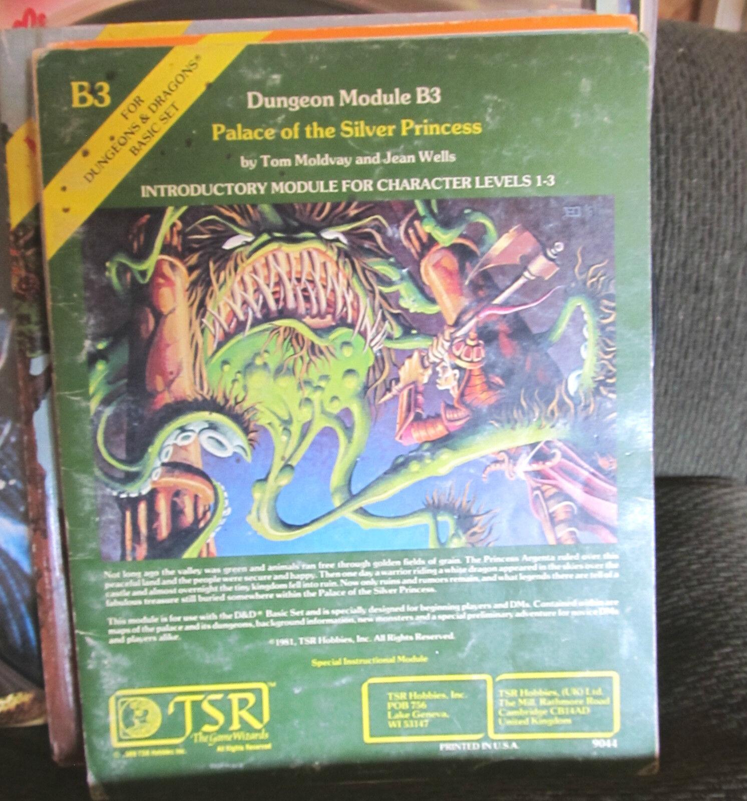 B3 Palast der Silber Prinzessin Dungeons & Dragons Modul TSR 9044 1981 Basic