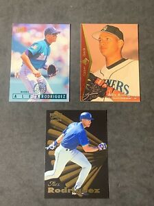 Alex-Rodriguez-FLEER-UPPER-DECK-Rookie-Seattle-Mariners-3-CARD-PLAYER-LOT