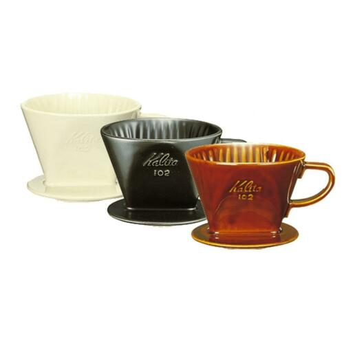 Kalita Pour Over Ceramic Porcelain Coffee Dripper 102 White for 2-4 Cups