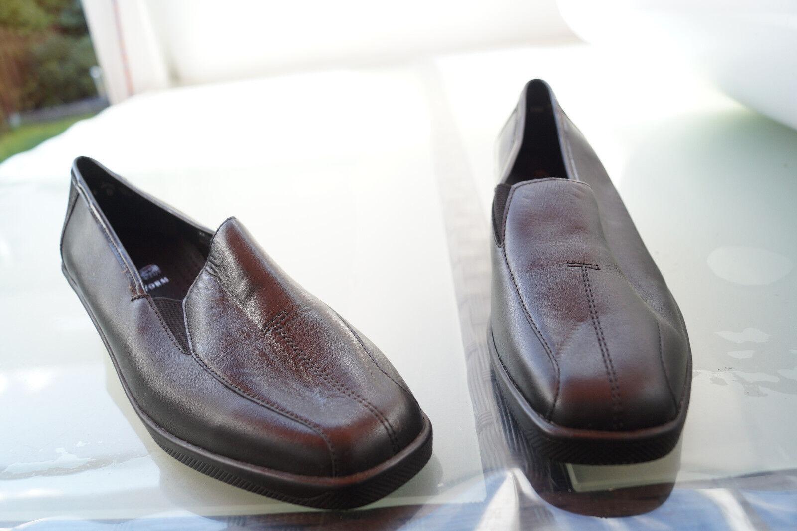 Ara naturaleza forma forma forma señora Comfort zapatos de salón mocasines cuero talla 7 h 41 negro nuevo  precio mas barato