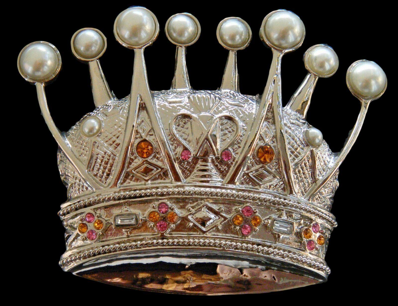 Queen Princess Rhinestoe Royalty Crown Cool Belt Buckle