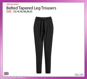Women/'s Ex M/&S Straight Leg Trouser Navy /& Black Casual