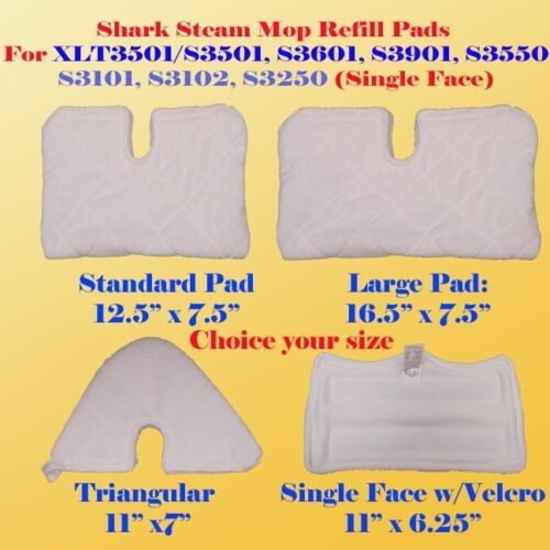 S3901 S3601 S3501 XLT3501 Shark Euro Pro Steam Mop Pads Replacement S3101 S3250