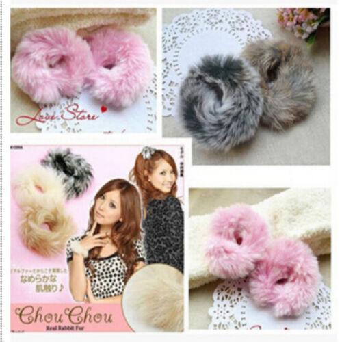 Cute Imitate Rabbit Fur Girl Hair Band Elastic Bobble Pony Tail  Useful Holder