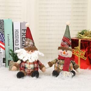 Regalo-di-Natale-Babbo-Natale-Pupazzo-di-Neve-Ornamento-Festival-Festa-Natale-Arredamento-Bambola